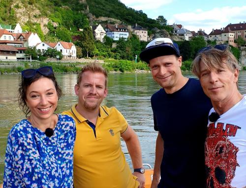 Mit Ursula Strauss und Dominic Heinzl am großen Fluß